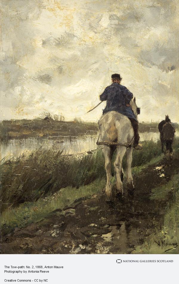 Anton Mauve, The Tow-path: No. 2