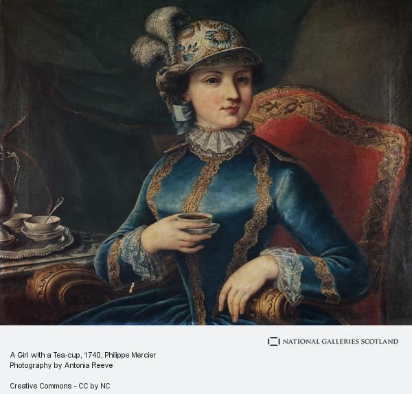 Philippe Mercier, A Girl with a Tea-cup