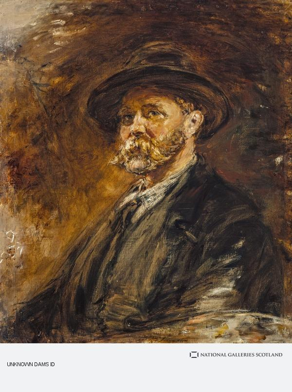 William McTaggart, A Study of Oak Leaves in Autumn (Self-portrait)