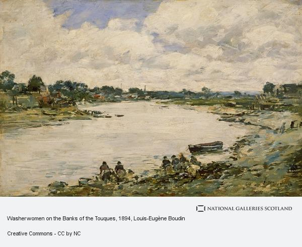 Eugene Louis Boudin, Washerwomen on the Banks of the Touquesi90