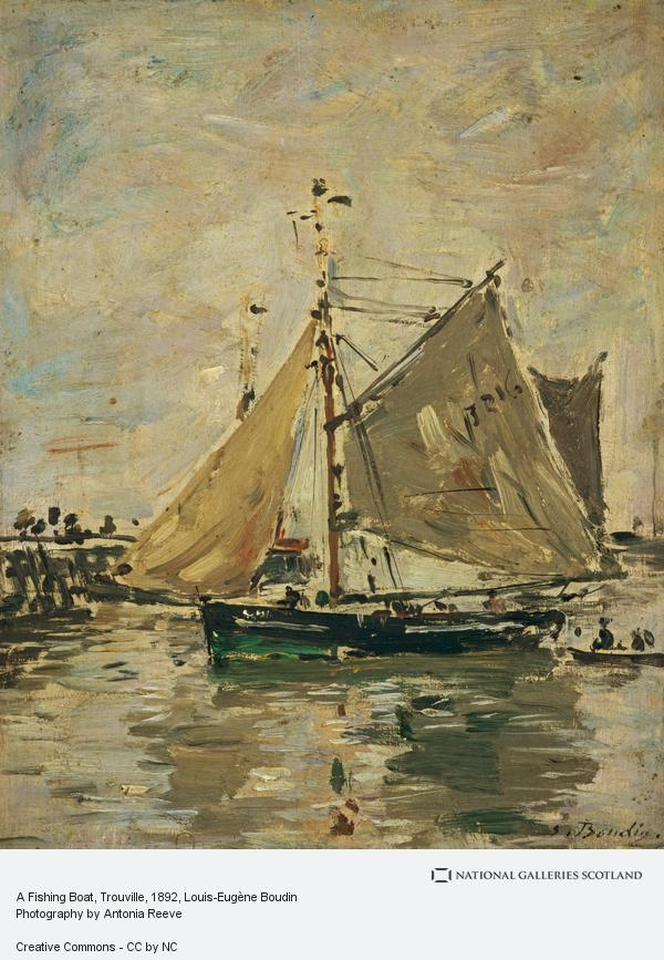 Louis-Eugene Boudin, A Fishing Boat, Trouville (About 1892 - 1896)