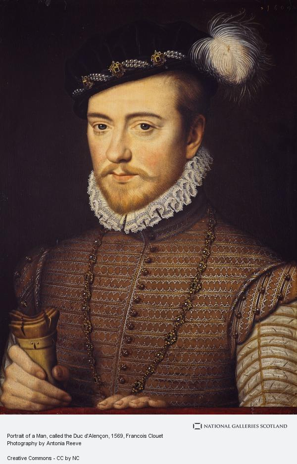 Francois Clouet, Portrait of a Man, called the Duc d'Alençon