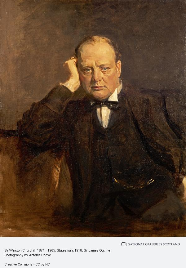 Sir James Guthrie, Sir Winston Churchill, 1874 - 1965. Statesman