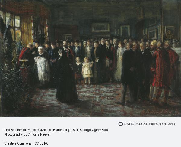 George Ogilvy Reid, The Baptism of Prince Maurice of Battenberg