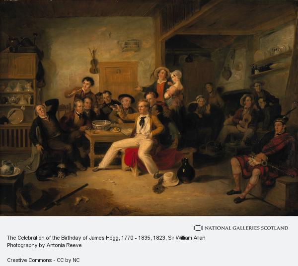 Sir William Allan, James Hogg, 1770 - 1835. Poet; 'The Ettrick Shepherd' (The Ettrick Shepherd's House Heating or The Celebration of his Birthday) (1823 or 1825)