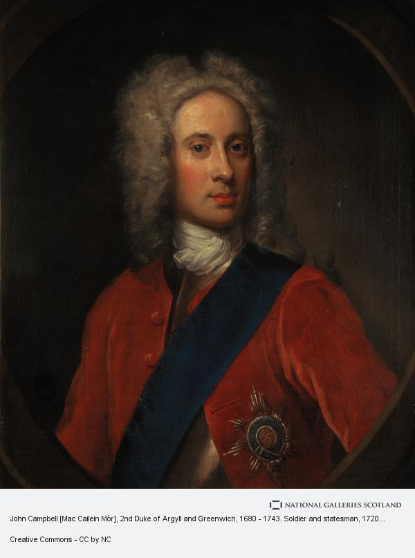 William Aikman, John Campbell [Mac Cailein Mòr], 2nd Duke of Argyll and Greenwich, 1680 - 1743. Soldier and statesman (About 1720)