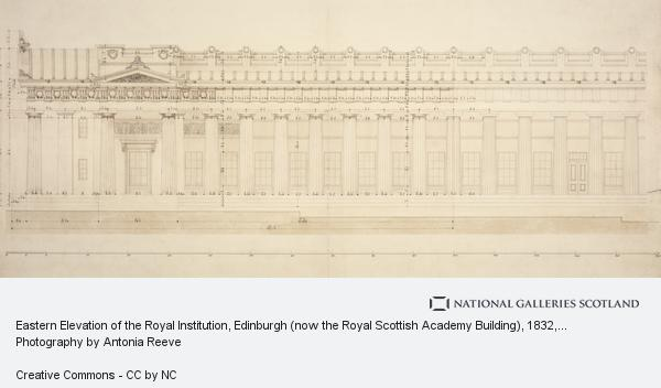 William Henry Playfair, Eastern Elevation of the Royal Institution, Edinburgh (now the Royal Scottish Academy Building) (1832)