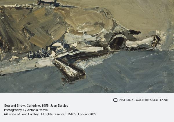 Joan Eardley, Sea and Snow, Catterline