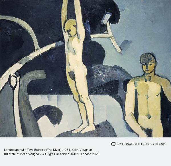 Keith Vaughan, Landscape with Two Bathers (The Diver)