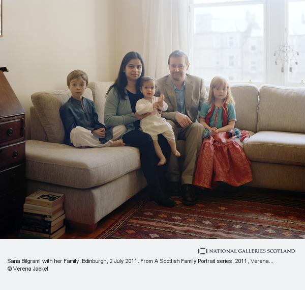 Verena Jaekel, Sana Bilgrami with her Family, Edinburgh, 2 July 2011. From A Scottish Family Portrait series (2011)