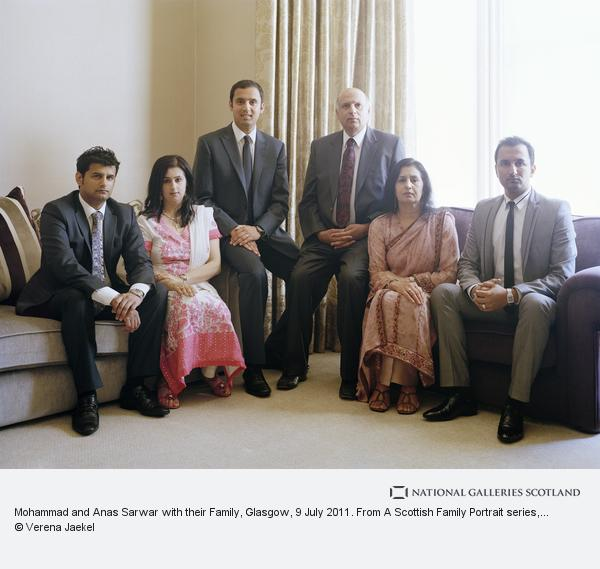 Verena Jaekel, Mohammad and Anas Sarwar with their Family, Glasgow, 9 July 2011. From A Scottish Family Portrait series (2011)