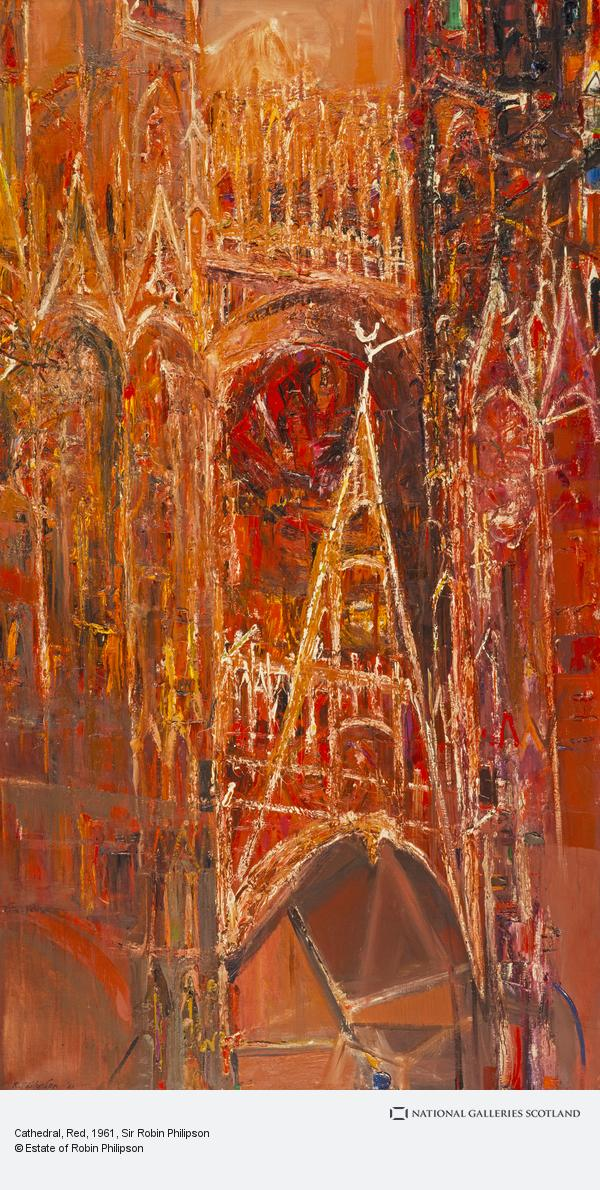 Sir Robin Philipson, Cathedral, Red
