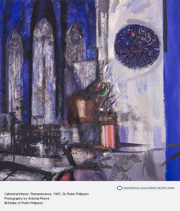 Sir Robin Philipson, Cathedral Interior, Remembrance (1965)