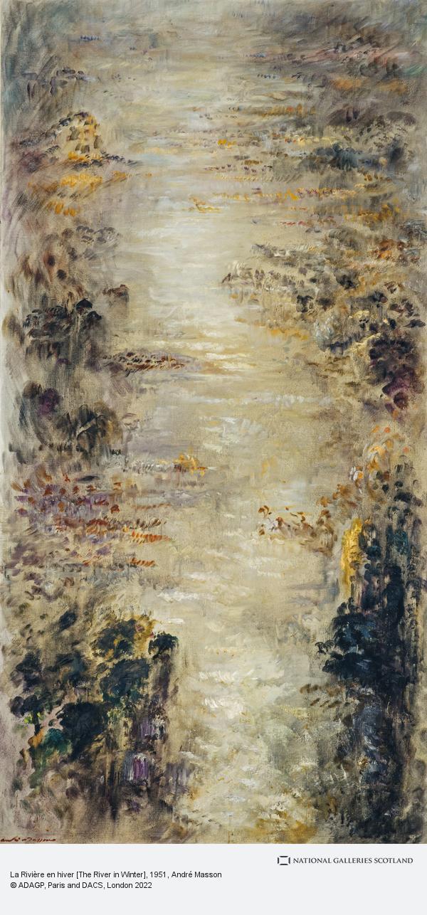 Andre Masson, La Rivière en hiver [The River in Winter]