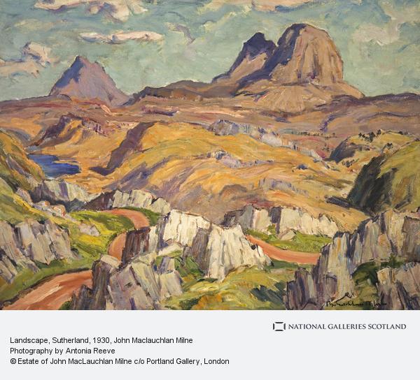 John Maclauchlan Milne, Landscape, Sutherland (About 1930 - 1935)