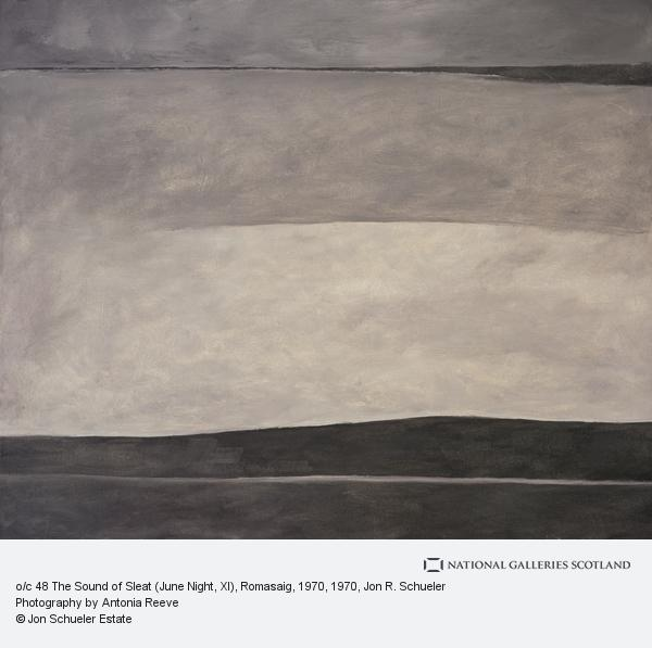 Jon R. Schueler, The Sound of Sleat (June Night, XI) [o/c 48] Romasaig