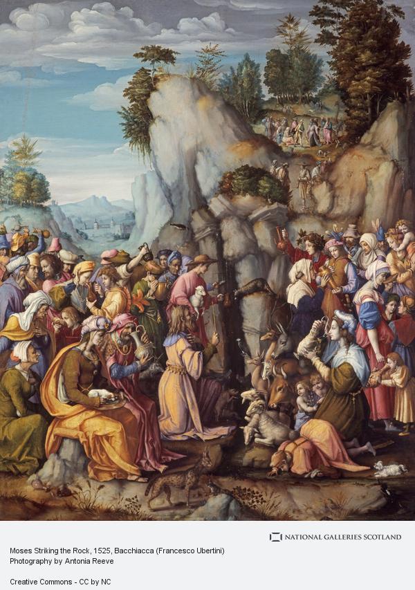 Bacchiacca (Francesco Ubertini), Moses Striking the Rock