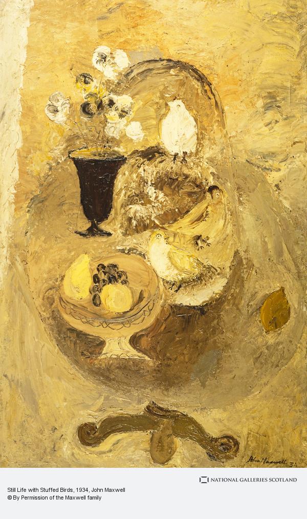 John Maxwell, Still Life with Stuffed Birds
