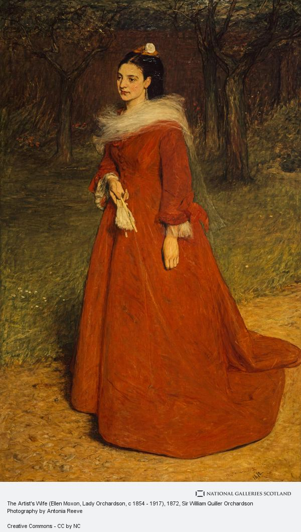 Sir William Quiller Orchardson, The Artist's Wife (Ellen Moxon, Lady Orchardson, c 1854 - 1917) (Dated 1872)