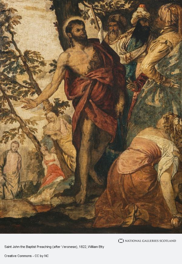 William Etty, Saint John the Baptist Preaching (after Veronese)