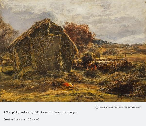 Alexander Fraser, the younger, A Sheepfold, Haslemere