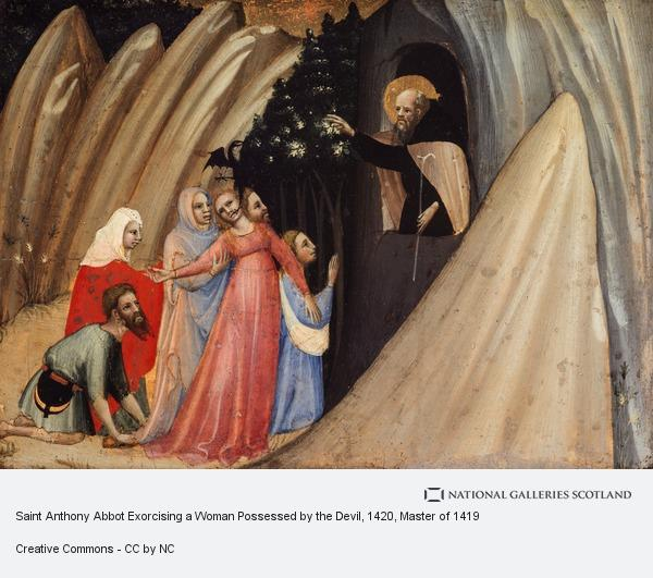 Master of 1419, Saint Anthony Abbot Exorcising a Woman Possessed by the Devil