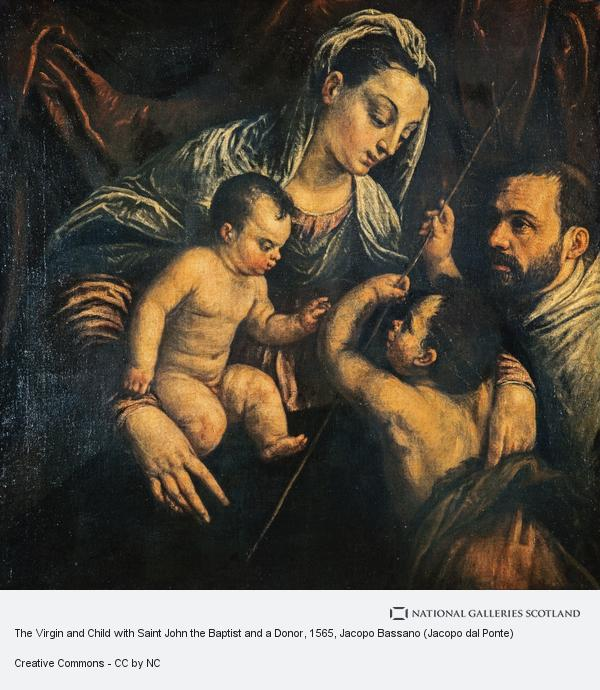 Jacopo Bassano (Jacopo dal Ponte), The Virgin and Child with Saint John the Baptist and a Donor (Based on the design of a painting of about 1565 - 1570)