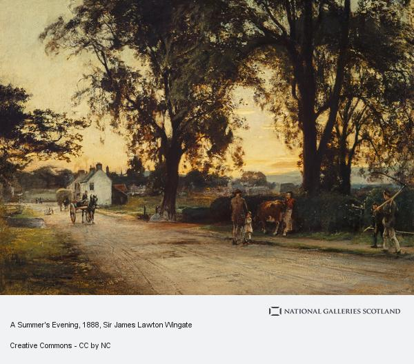 Sir James Lawton Wingate, A Summer's Evening (Dated 1888)