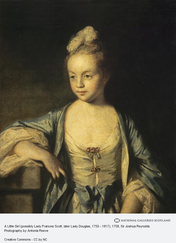 Sir Joshua Reynolds, A Little Girl (possibly Lady Frances Scott, later Lady Douglas, 1750 - 1817) (About 1758 - 1759)