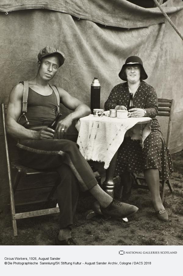 August Sander, Circus Workers, 1926-32 (1926 - 1932)
