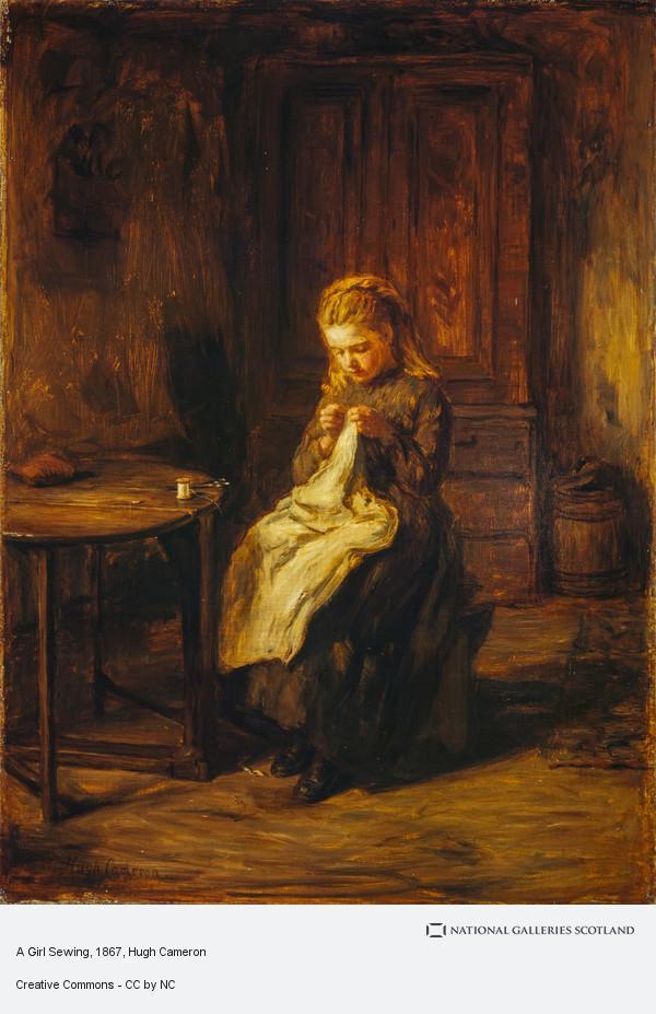 Hugh Cameron, A Girl Sewing