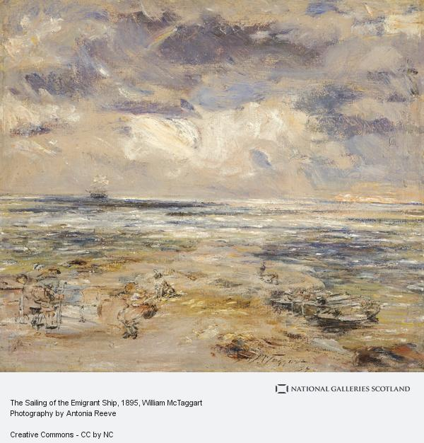 William McTaggart - The Sailing of the Emigrant Ship; National Galleries of Scotland.