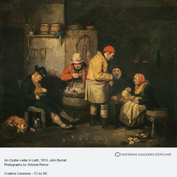John Burnet, An Oyster-cellar in Leith