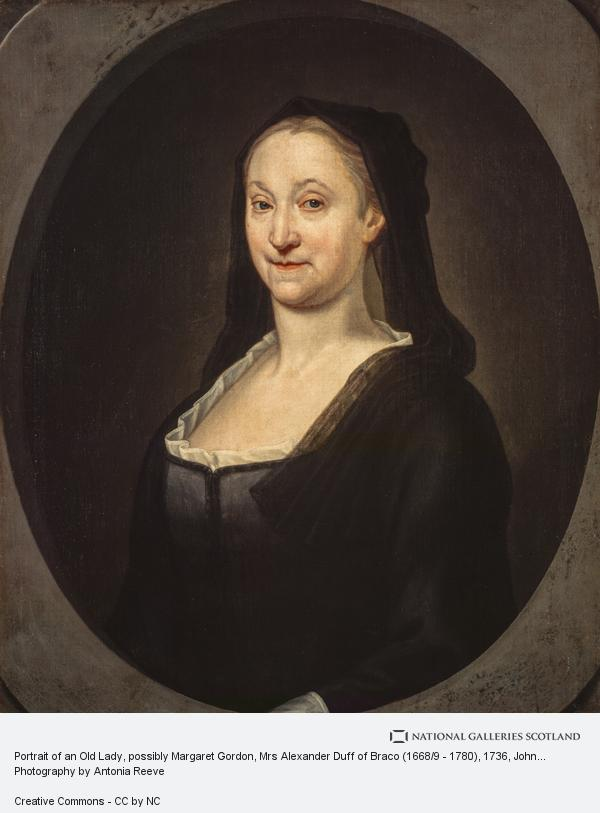 John Alexander, Portrait of an Old Lady, possibly Helen Taylor, Mrs William Duff of Braco (1668/9 - 1780) (1736)