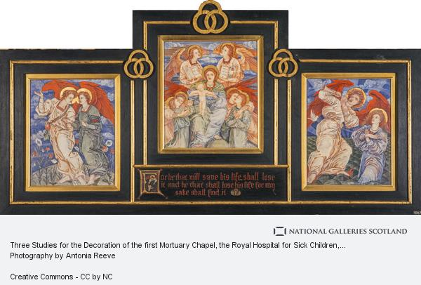 Phoebe Anna Traquair, Three Studies for the Decoration of the first Mortuary Chapel, the Royal Hospital for Sick Children, Edinburgh