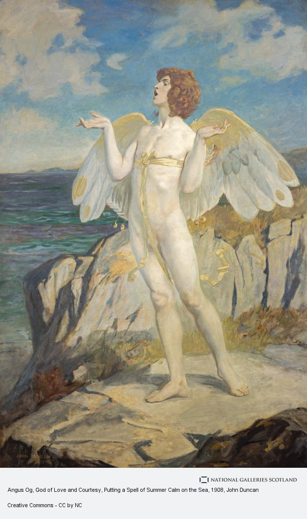 John Duncan, Angus Og, God of Love and Courtesy, Putting a Spell of Summer Calm on the Sea