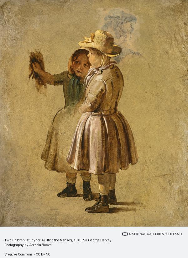Sir George Harvey, Two Children (study for 'Quitting the Manse')