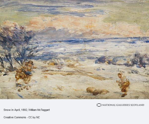William McTaggart, Snow in April