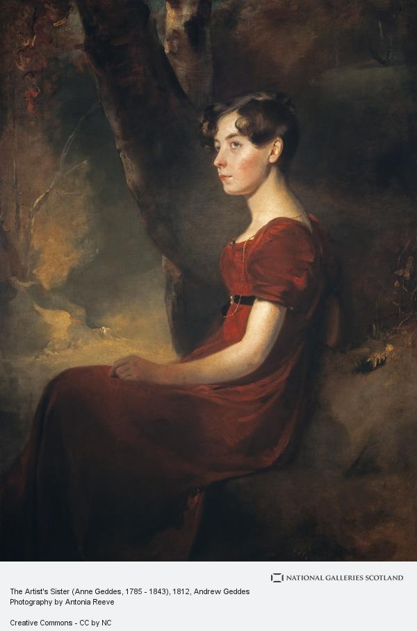 Andrew Geddes, The Artist's Sister (Anne Geddes, 1785 - 1843)