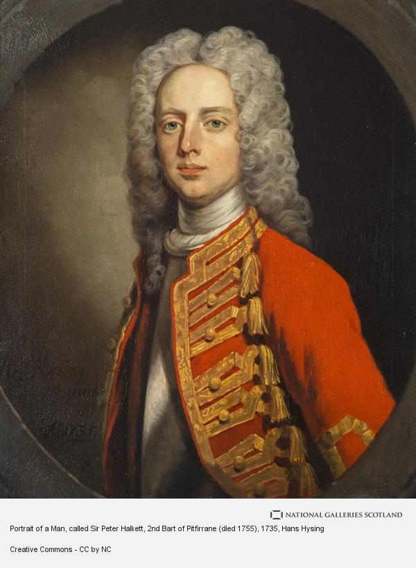 Hans Hysing, Portrait of a Man, called Sir Peter Halkett, 2nd Bart of Pitfirrane (died 1755)