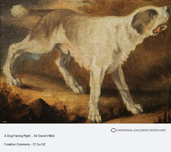 Sir David Wilkie, A Dog Facing Right