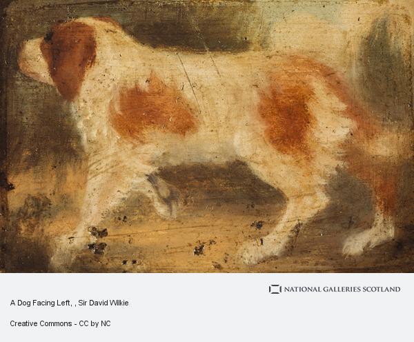 Sir David Wilkie, A Dog Facing Left