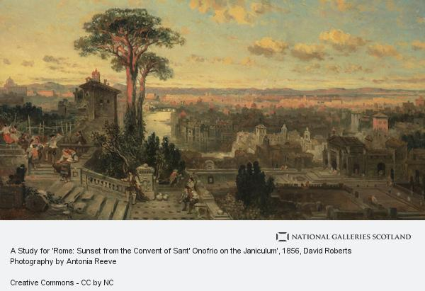David Roberts, A Study for 'Rome: Sunset from the Convent of Sant' Onofrio on the Janiculum'