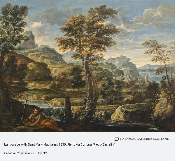 Pietro da Cortona (Pietro Berretini), Landscape with Saint Mary Magdalen