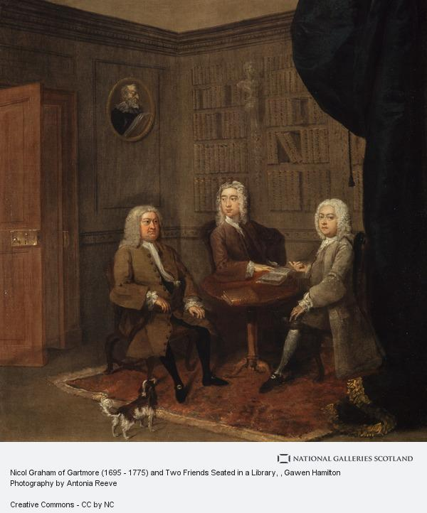 Gawen Hamilton, Nicol Graham of Gartmore (1695 - 1775) and Two Friends Seated in a Library