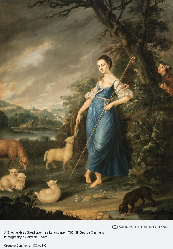 Sir George Chalmers, A Shepherdess Spied upon in a Landscape (Dated 1760)