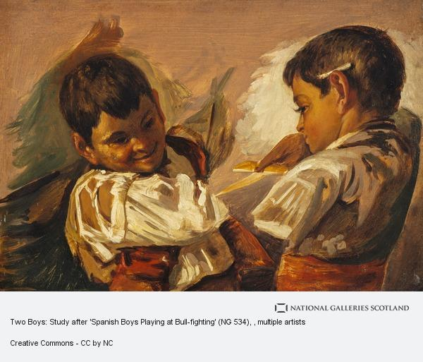 John Phillip, Two Boys: Study after 'Spanish Boys Playing at Bull-fighting' (NG 534)