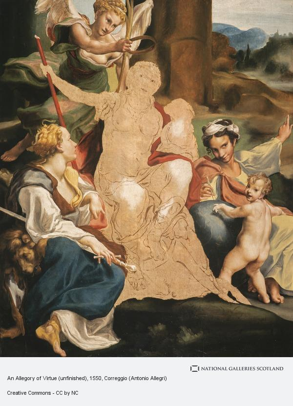 Correggio (Antonio Allegri), An Allegory of Virtue (unfinished)