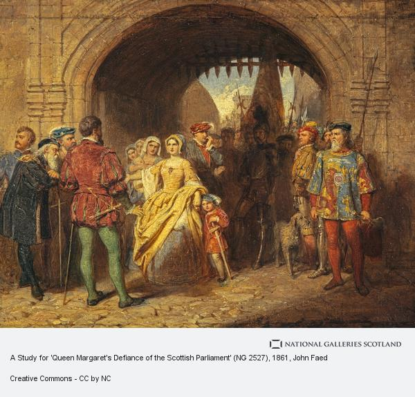 John Faed, A Study for 'Queen Margaret's Defiance of the Scottish Parliament' (NG 2527)