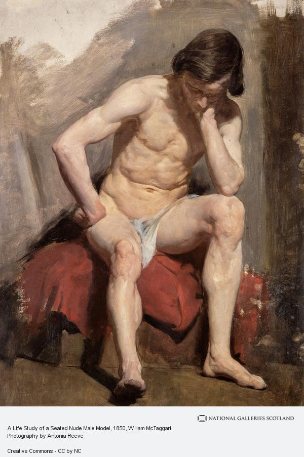 William McTaggart, A Life Study of a Seated Nude Male Model